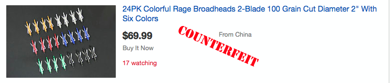 $320 worth of heads for $69.99 and located in China...COUNTERFEIT!